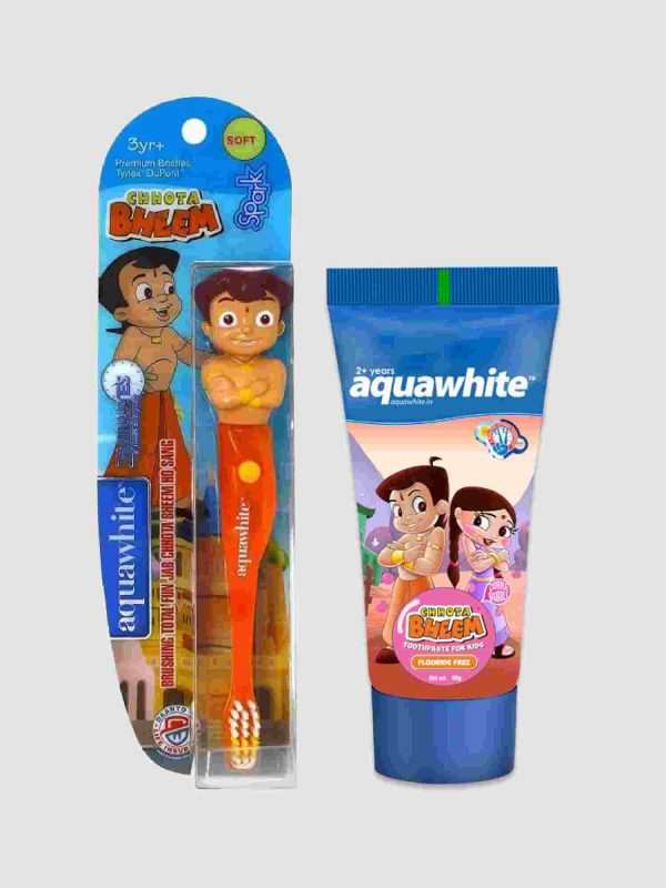 Combo of Chhota bheem spark and chhota bheem dubble bubble toothpaste