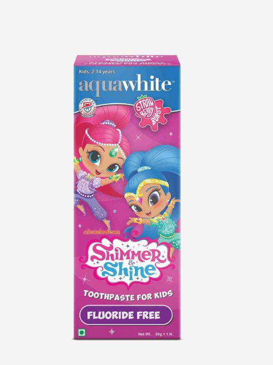 Shimmer and shine toothpaste